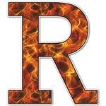 Fire Letter Decal - Custom Sizes (Personalized)