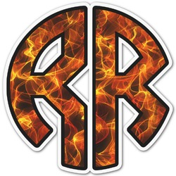 Fire Monogram Decal - Custom Sized (Personalized)