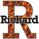 Fire Name & Initial Decal - Custom Sized (Personalized)