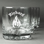 Fire Whiskey Glasses (Set of 4) (Personalized)