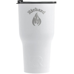 Fire RTIC Tumbler - White - Engraved Front (Personalized)