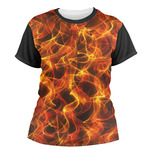 Fire Women's Crew T-Shirt (Personalized)