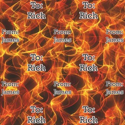 Fire Wrapping Paper (Personalized)