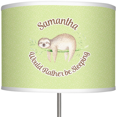 """Sloth 13"""" Drum Lamp Shade (Personalized)"""