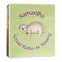 Sloth 3-Ring Binder - 1 inch (Personalized)