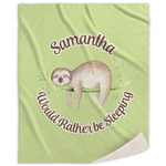 Sloth Sherpa Throw Blanket (Personalized)
