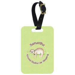 Sloth Aluminum Luggage Tag (Personalized)