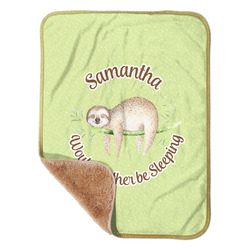 "Sloth Sherpa Baby Blanket 30"" x 40"" (Personalized)"