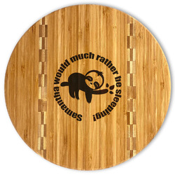 Sloth Bamboo Cutting Board (Personalized)
