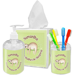 Sloth Bathroom Accessories Set (Personalized)