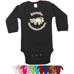 Sloth Bodysuit - Black (Personalized)