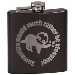 Sloth Black Flask Set (Personalized)