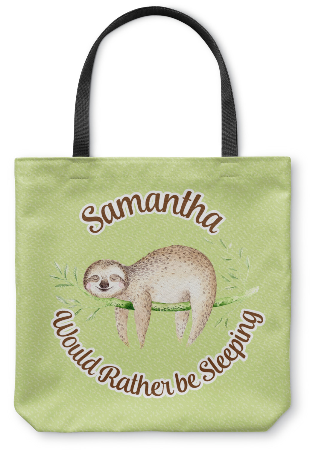 sloth canvas tote bag personalized youcustomizeit