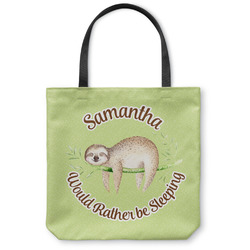 Sloth Canvas Tote Bag (Personalized)