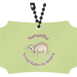 Sloth Rear View Mirror Ornament (Personalized)