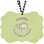 Sloth Rear View Mirror Charm (Personalized)