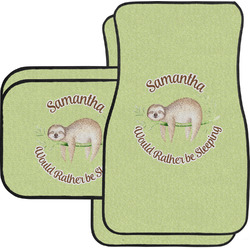 Sloth Car Floor Mats Set - 2 Front & 2 Back (Personalized)