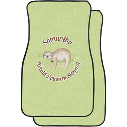 Sloth Car Floor Mats (Front Seat) (Personalized)