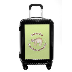 Sloth Carry On Hard Shell Suitcase (Personalized)