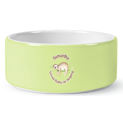 Sloth Ceramic Dog Bowl (Personalized)