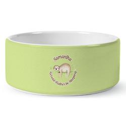 Sloth Ceramic Dog Bowl (Personalized)