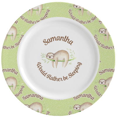 Sloth Ceramic Dinner Plates (Set of 4) (Personalized)