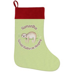 Sloth Holiday Stocking w/ Name or Text