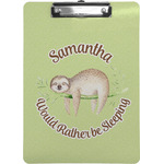 Sloth Clipboard (Personalized)