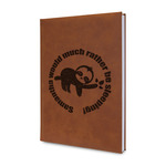 Sloth Leatherette Journal (Personalized)