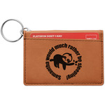 Sloth Leatherette Keychain ID Holder (Personalized)
