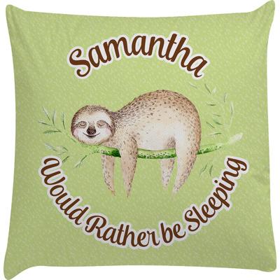 Sloth Decorative Pillow Case (Personalized)
