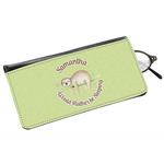Sloth Genuine Leather Eyeglass Case (Personalized)