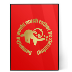Sloth 5x7 Red Foil Print (Personalized)