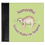 Sloth Genuine Leather Baby Memory Book (Personalized)