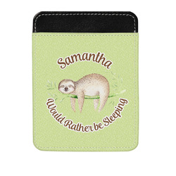 Sloth Genuine Leather Money Clip (Personalized)