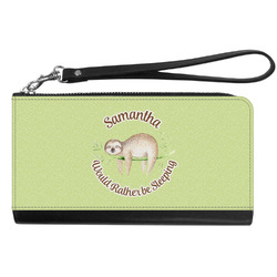 Sloth Genuine Leather Smartphone Wrist Wallet (Personalized)