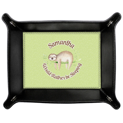 Sloth Genuine Leather Valet Tray (Personalized)