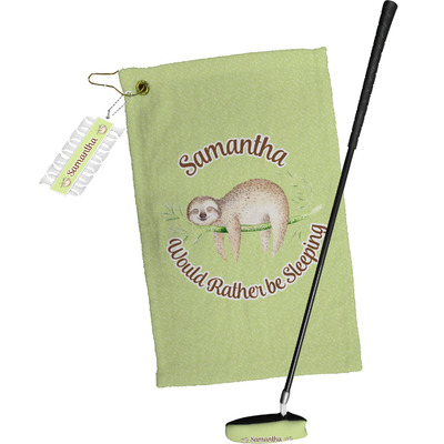 Sloth Golf Towel Gift Set (Personalized)