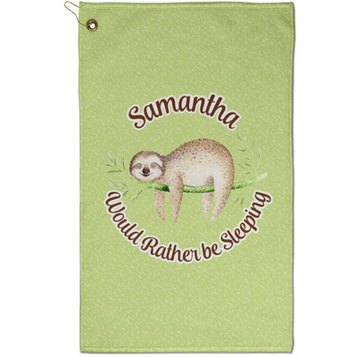 Sloth Golf Towel - Full Print - Small w/ Name or Text
