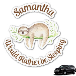 Sloth Graphic Car Decal (Personalized)