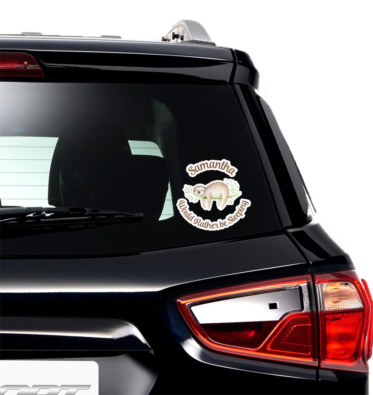 Sloth Heartbeat Love Window Decal Sticker Custom Sticker Shop