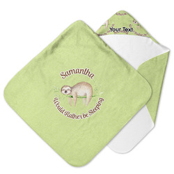 Sloth Hooded Baby Towel (Personalized)
