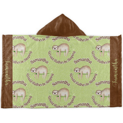 Sloth Kids Hooded Towel (Personalized)