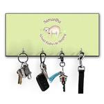 Sloth Key Hanger w/ 4 Hooks (Personalized)