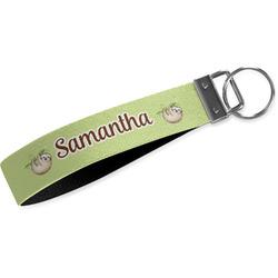 Sloth Webbing Keychain Fob - Small (Personalized)