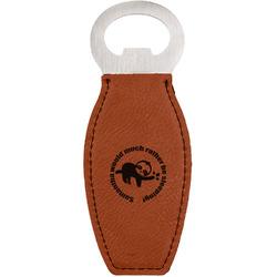 Sloth Leatherette Bottle Opener (Personalized)