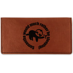 Sloth Leatherette Checkbook Holder (Personalized)