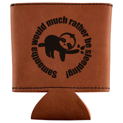 Sloth Leatherette Can Sleeve (Personalized)