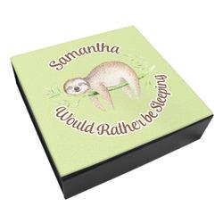 Sloth Leatherette Keepsake Box - 3 Sizes (Personalized)