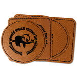 Sloth Faux Leather Iron On Patch (Personalized)